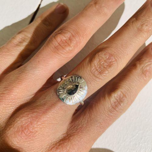 Nynybird, Créatrice de bijoux, Bague sun tourmaline pastèque